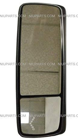Door Mirror Power Heated with Turn Signal and Gloss Black Back Cover - Driver Side (Fit: Volvo VNL 670 780 630 730 860, VNM 200 430 630, VNX 300 Trucks)