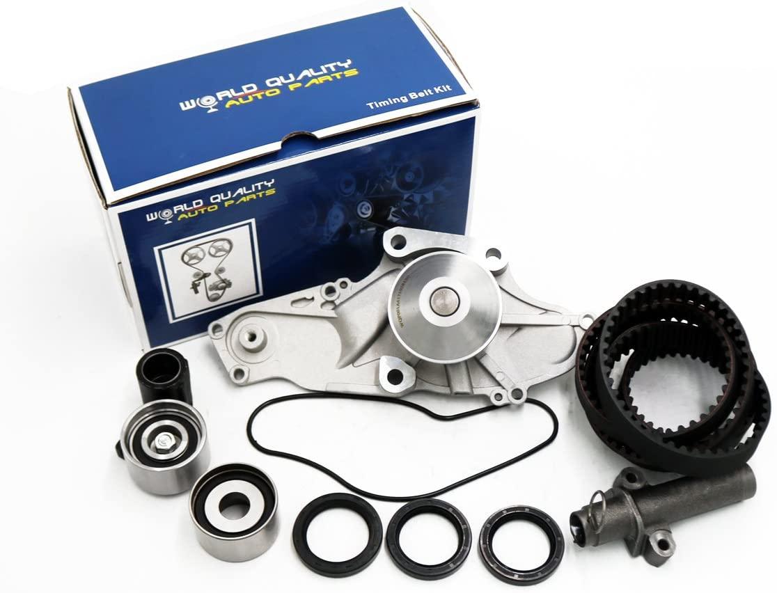 Timing Belt Water Pump Kit fits for 1999-2004 Honda Odyssey, Pilot, Acura CL TL MDX 3.2L 3.5L V6 SOHC J32A1 J32A2 J32A3 J35A1 J35A4 VTEC