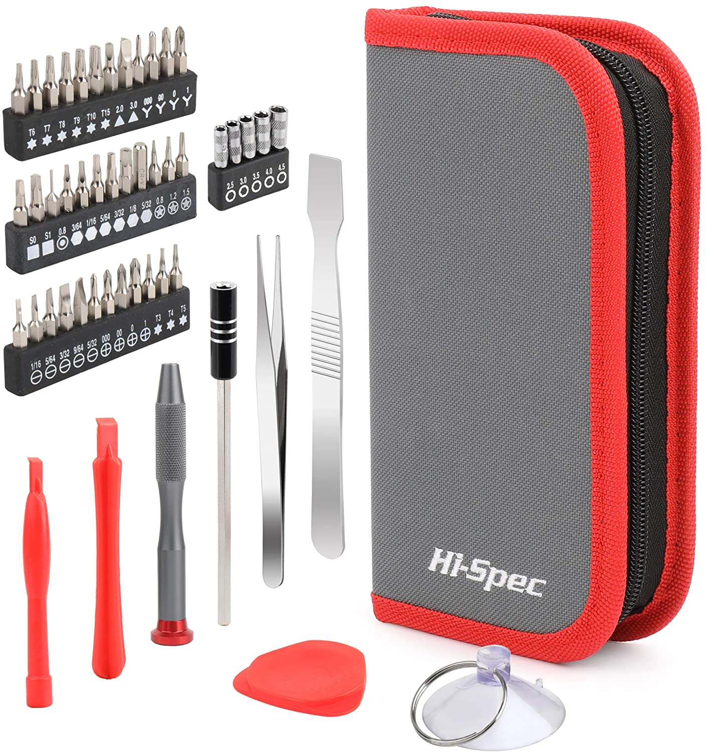 Hi-Spec 49 Piece Repair & Opening Tool Kit Set With Precision Screw Driver Bits For Android Mobile Cell Phones, iPhones, Macbooks, Laptops, Notebooks, Video Game Consoles & Electronic Gadgets