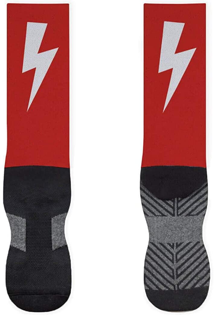 Lightning Bolt Printed Mid Calf Socks | Running Socks by Gone For a Run | Multiple Sizes