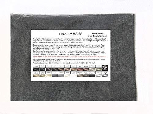 Finally Hair Fibers Refill Bag - 56 Grams of Premium Hair Loss Concealer in a Refill Bag (Dark Grey)