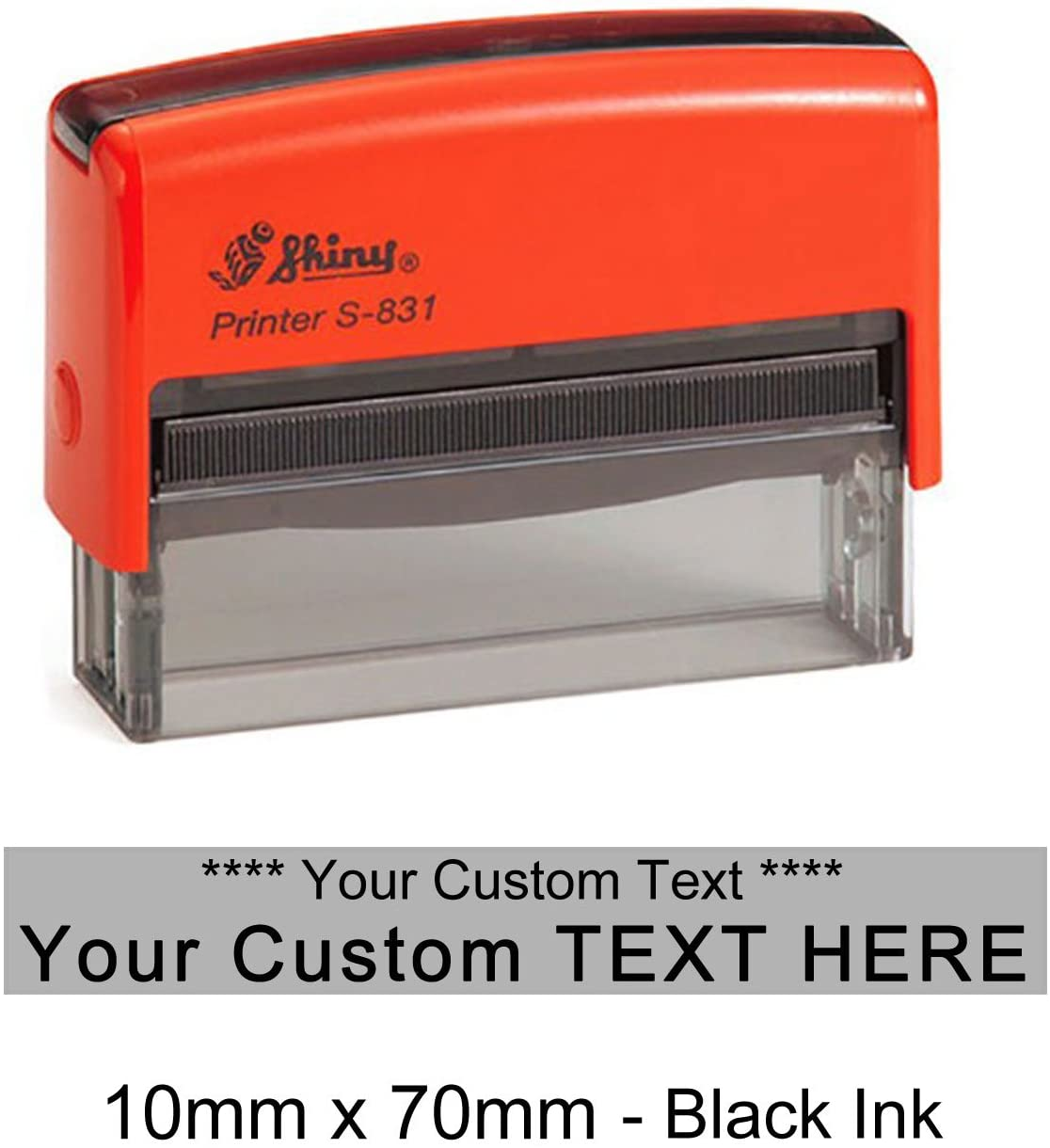 Shiny S-831 Self Inking Long Rubber Stamper Custom Office Stationery Stamp 10mm x 70mm