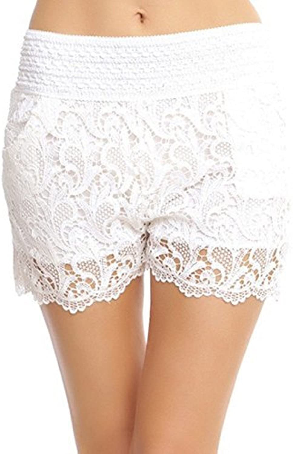 ToBeInStyle Women's Lined Crochet Lace Shorts