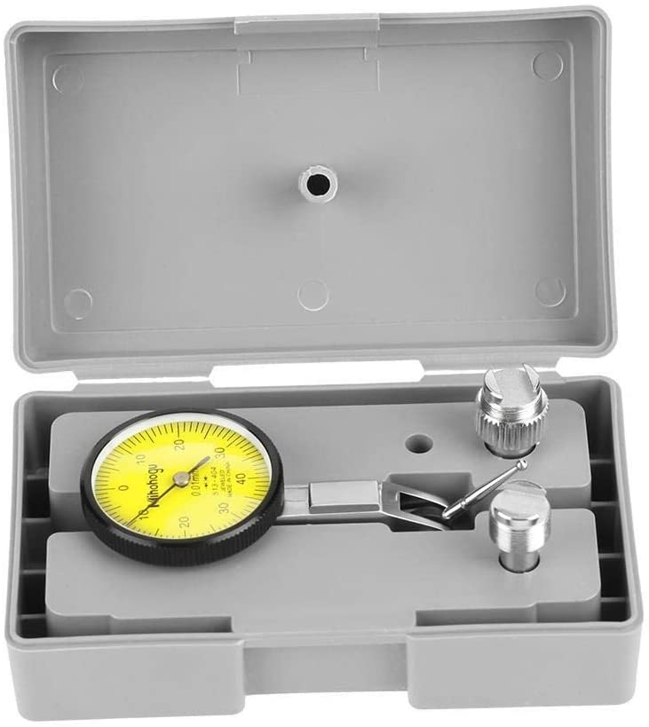 Dial Test Indicator, Maxmartt, Precision 0.01mm Lever test dial indicator Meter Tool Kit Gage, Grey Case,for Measurement During Machining, Layout and Inspection Work.