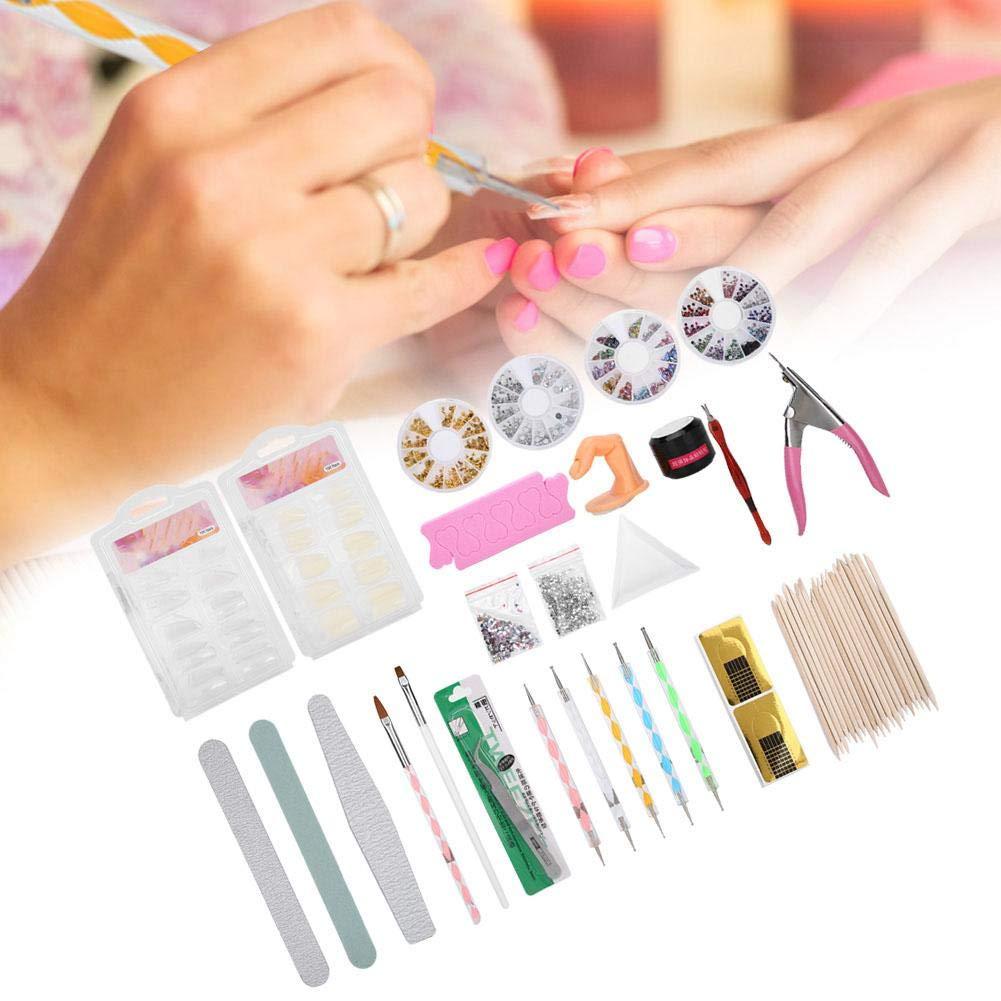 Nail Art Tools Kit, Manicure Set, Professional Nail Art Dotting Pen Rhinestones UV Gel Nail File Nail Art Supplies for Salon Home