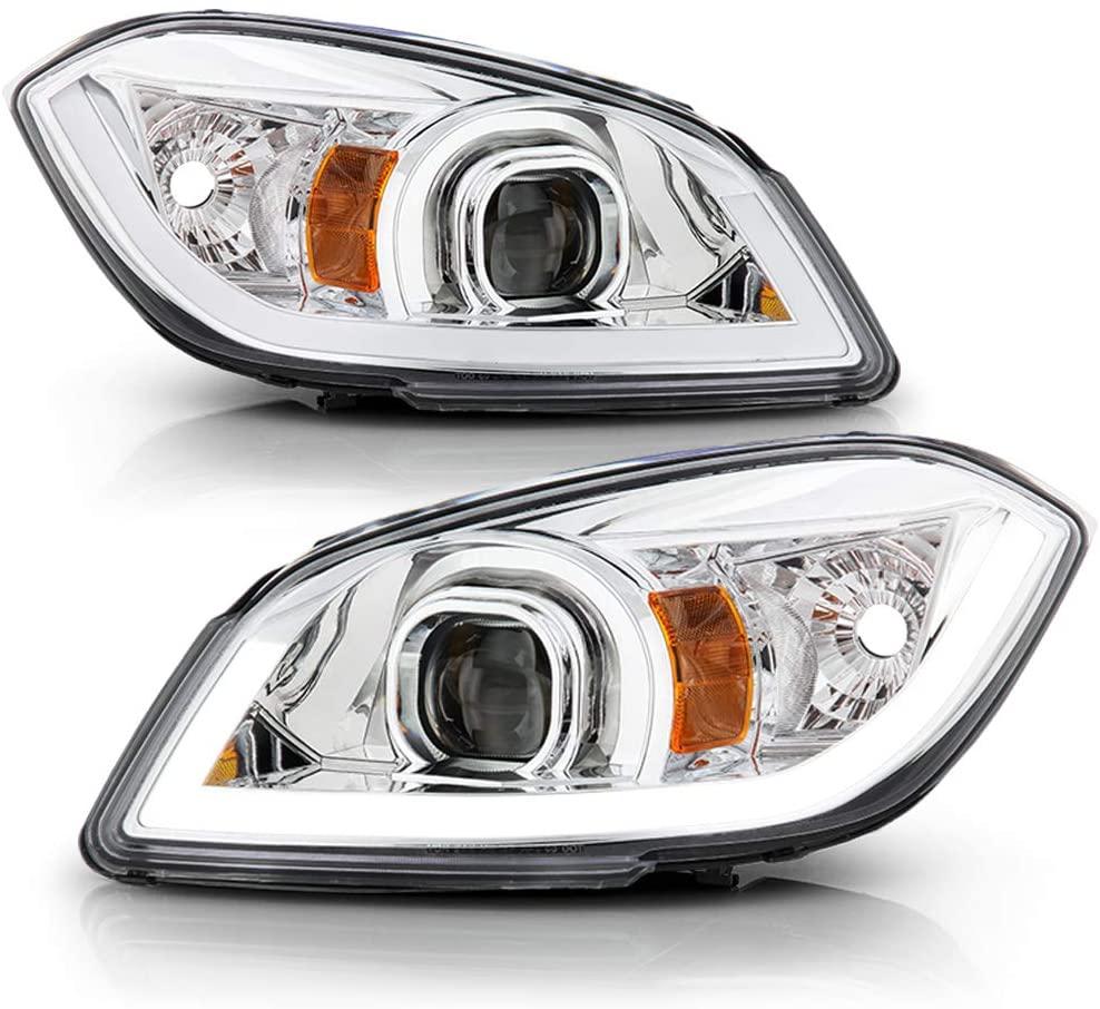 ACANII - For 2005-2010 Chevy Cobalt 07-10 Pontiac G5 Upgrade LED Tube Projector Headlights Headlamps Driver + Passenger