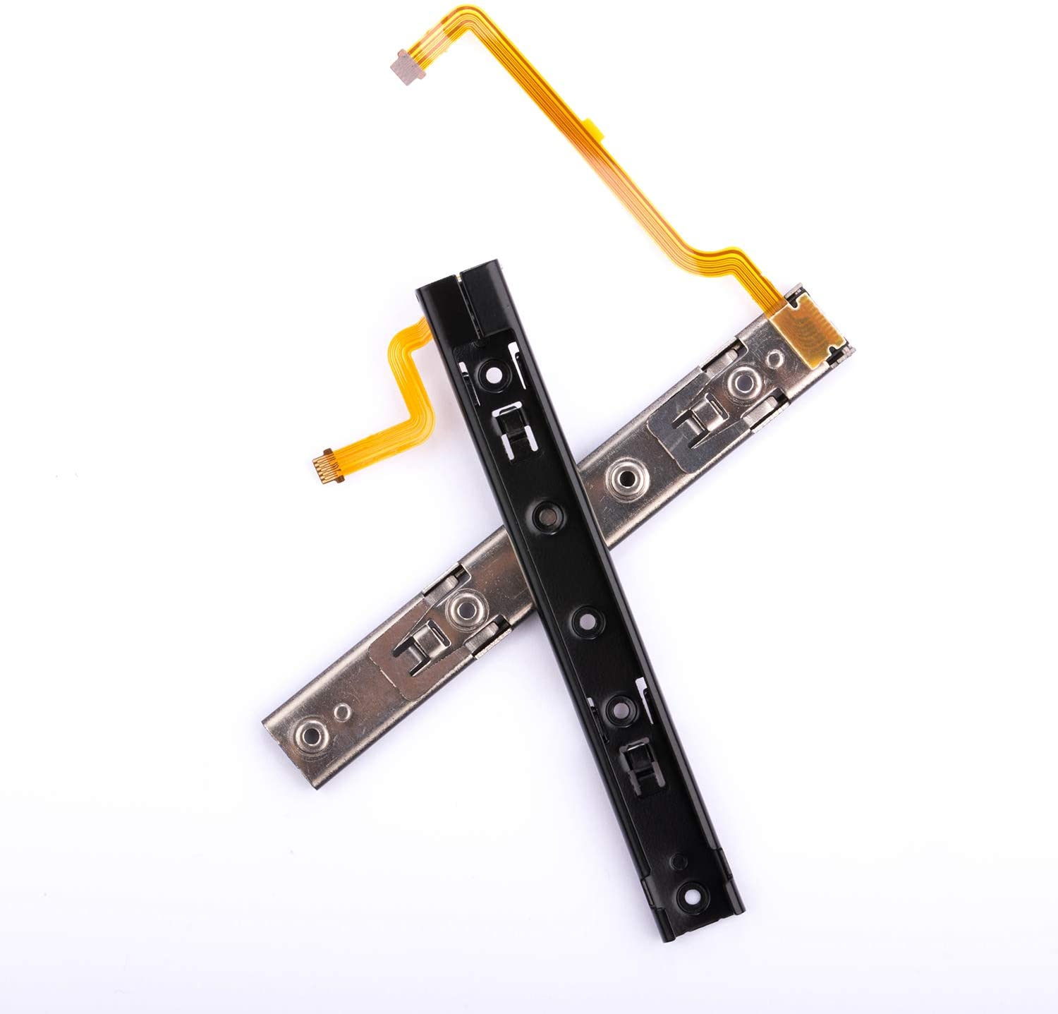 Side Rail with Ribbon Cable for Switch Console, NS Metal JoyCon Rail Replacement Part (Left + Right)