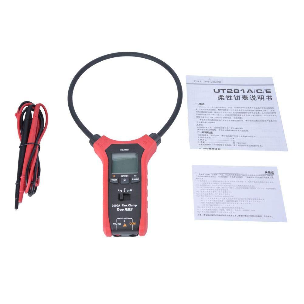 Digital Clamp Meter Multimeter,UNI-T Handheld LCD Digital RMS Clamp Meter Multimeter AC/DC Current Voltage Tester(UT281E)