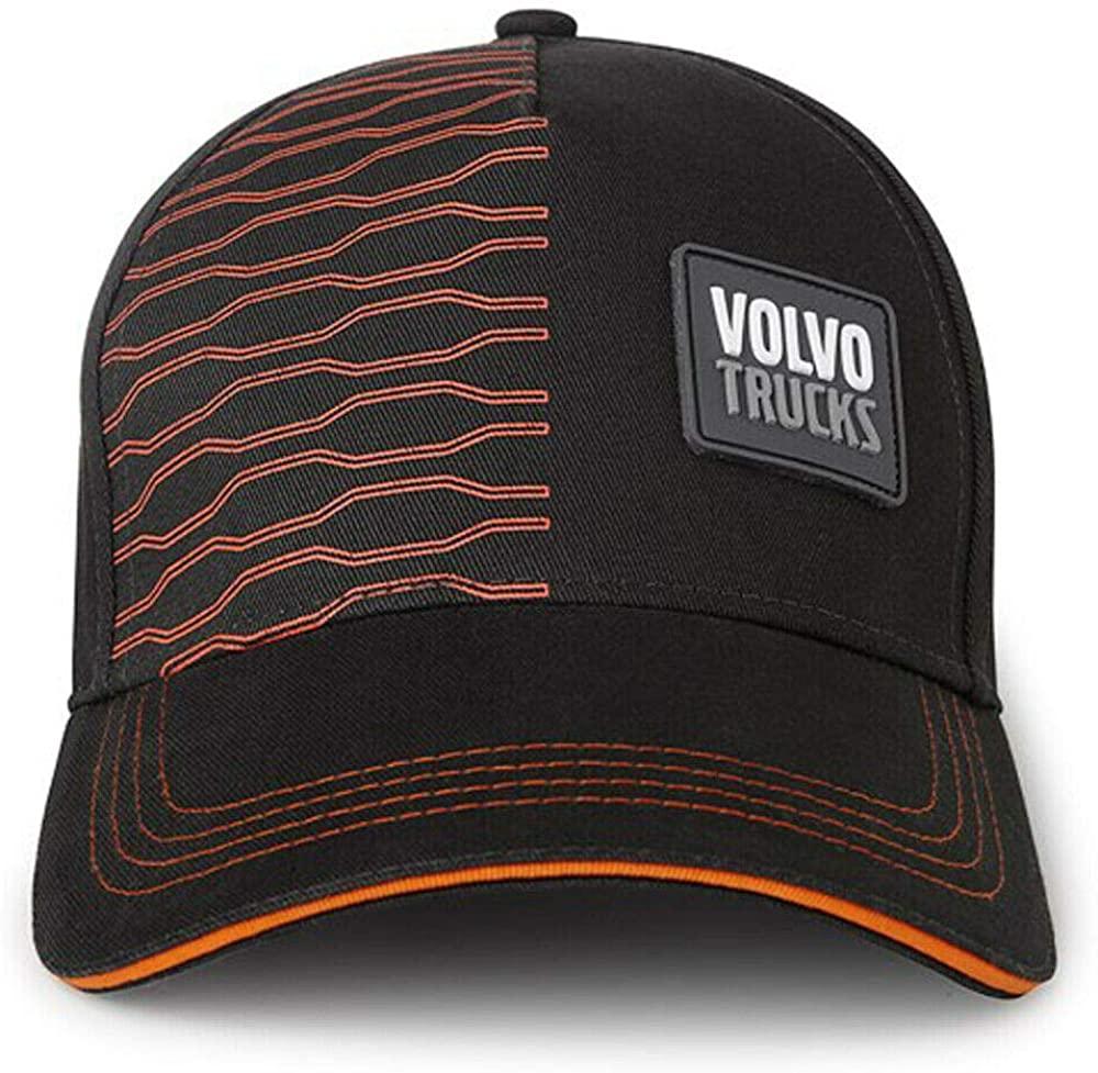BD Volvo Brand Trucks Driver Life Graphic Carbon & Orange Hat/Cap