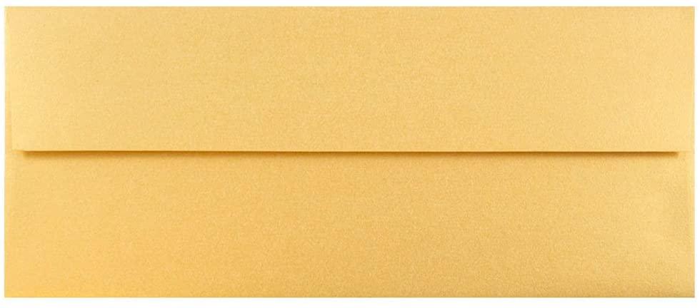 JAM PAPER #10 Metallic Business Envelopes - 4 1/8 x 9 1/2 - Gold Stardream - 25/Pack