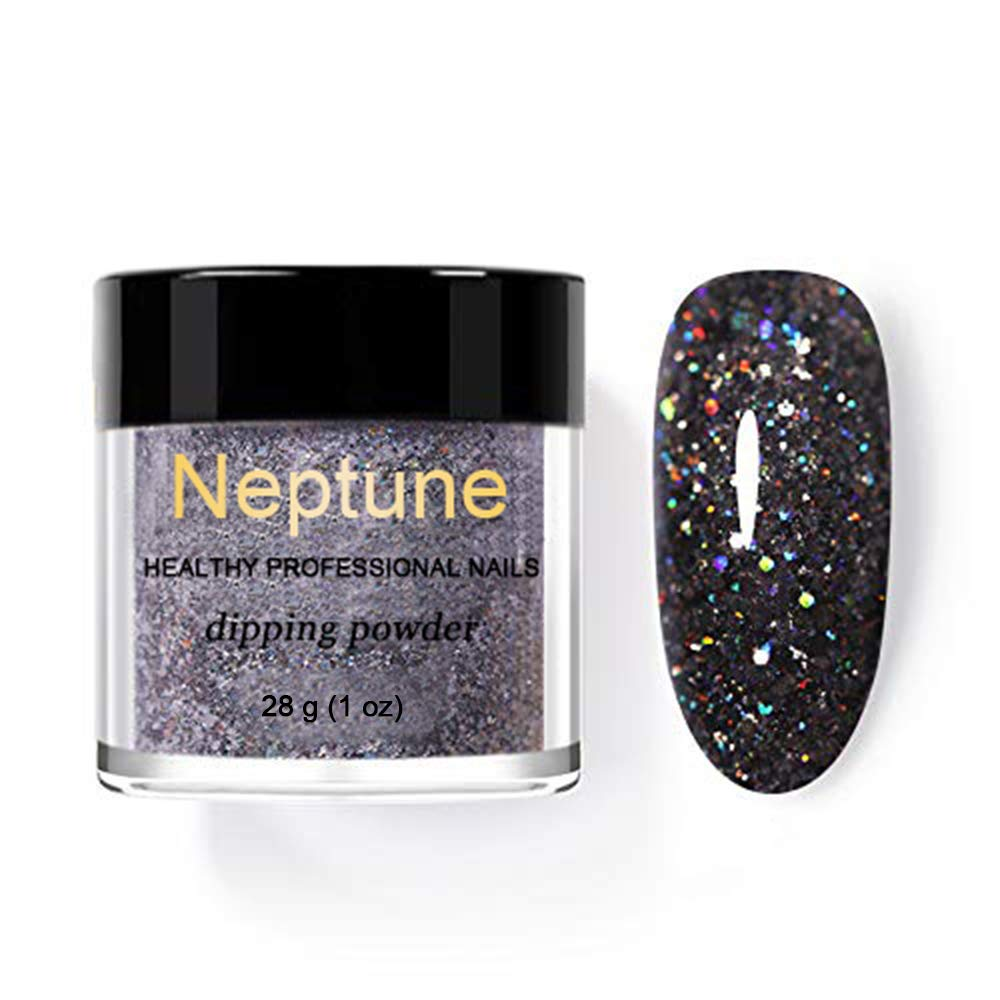 Holographic Powder on Nails Laser Silver Glitter Chrome Nail Powder DIP Shimmer Gel Polish Flakes for Manicure Pigment (N24)