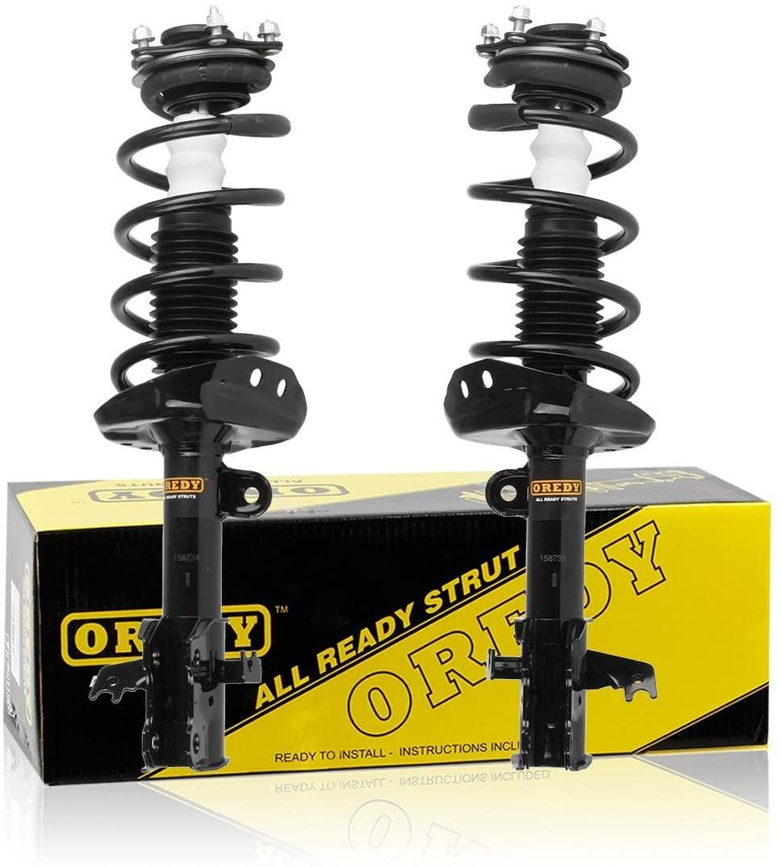 OREDY Struts 2PCS Front Shocks and Struts Complete Struts Assembly Struts Shocks Coil Spring Suspension Struts Kit 11605 11606 Compatible with CRV 2007 2008 2009 2010 2011