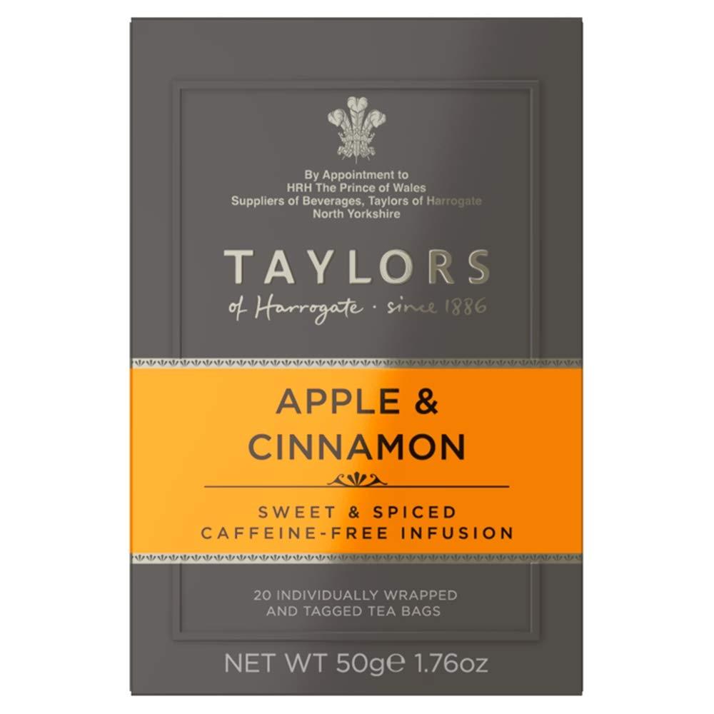 Taylors of Harrogate Apple & Cinnamon Herbal Tea, 20 Count (Pack of 6)