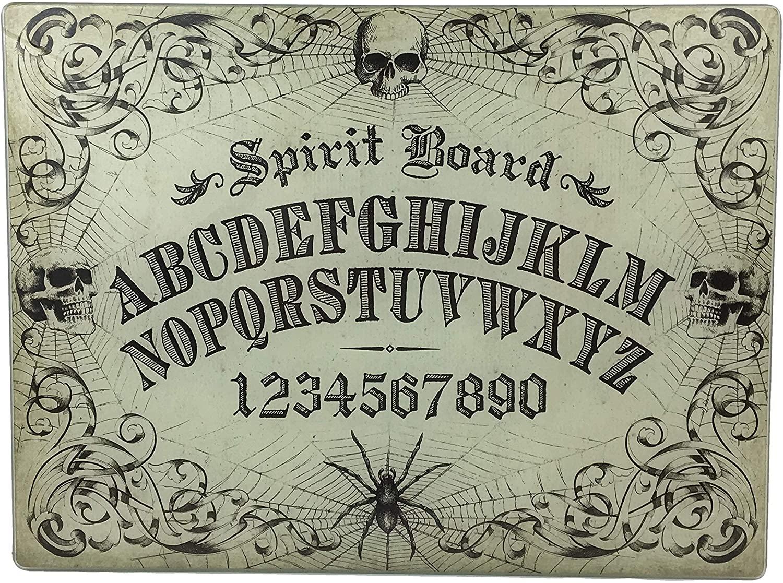 Decorative Halloween Glass Cutting Board Ouija Board Spooky Style