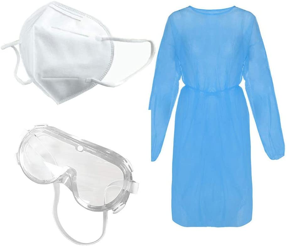XINQITE Protective Clothing With Masks and Protective Goggles Lab Covera11 Unisex