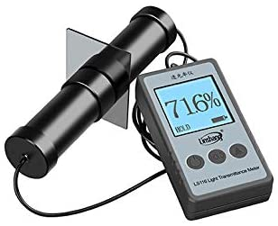 MeterTo LS116 Light Transmittance Meter, with Test Stand, Used for Measure Percentage of Light Transmitted Through Transparent Material (Such As Glass, Plastic Substrates etc.)