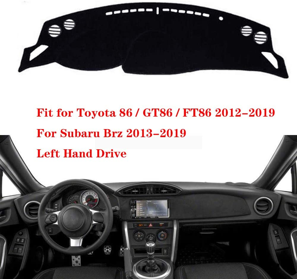 N2Qnice Dashmat for Toyota 86 / GT86 / FT86 2012-2019, for Subaru BRZ 2013-2019 Left Hand Drive Dashboard Cover Dash Pad Car Mat Carpet Custom Car-Styling Accessories
