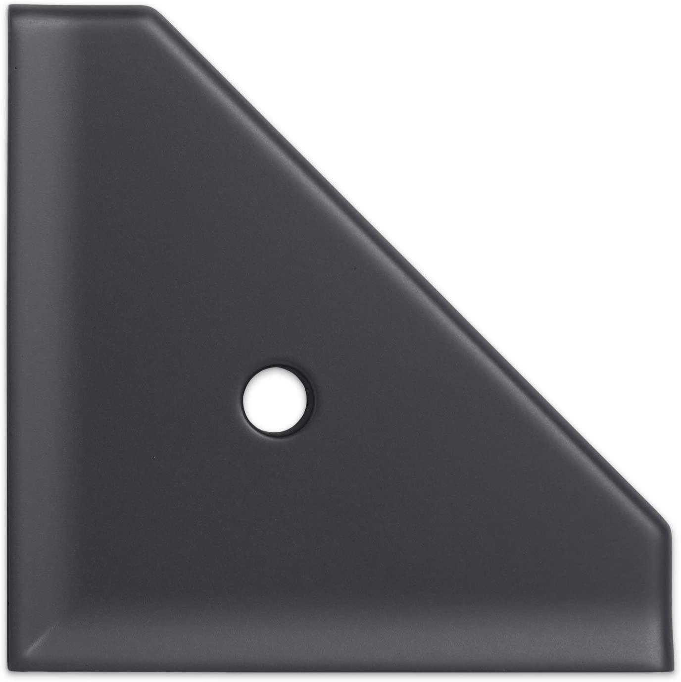 8 inch Corner Shower Shelf - Graphite Black Wall Mounted Bathroom Organizer Geo Flatback