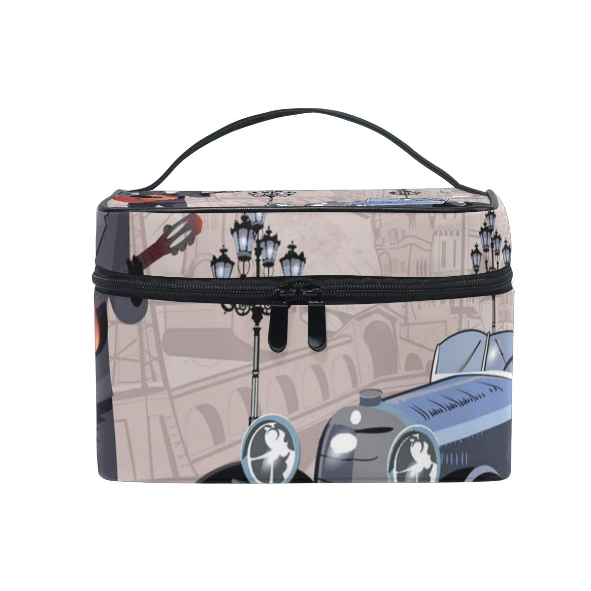Man And Car Makeup Bag Travel Toiletry BOX Portable Organizer Storage Cosmetic Train Case for Women Girls