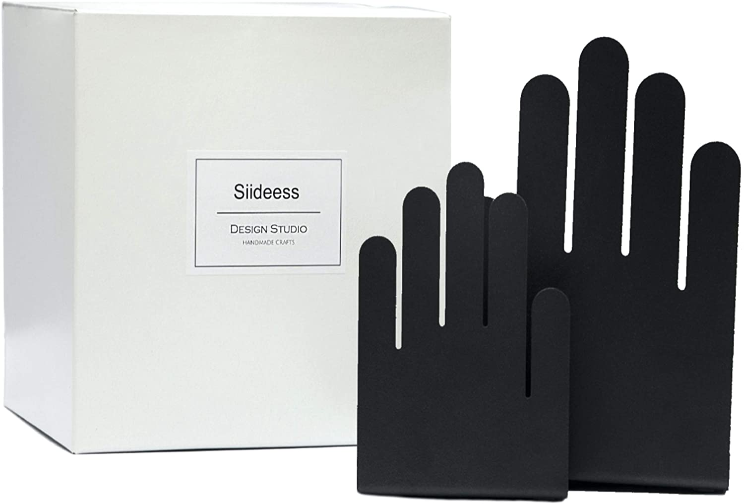 Siideess Handmade Crafts - Hand Shaped Decorative Bookends - Great Decor for Your Shelves, Desk or Credenza - Great Gifts Choice with Gift Box Included