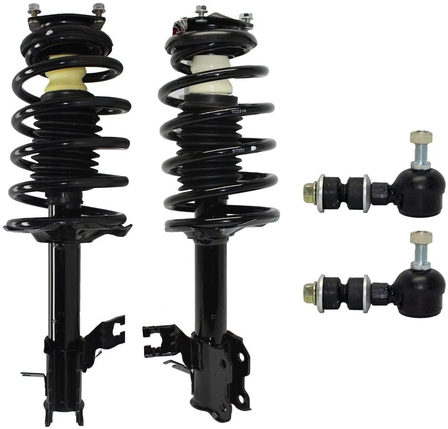 Detroit Axle - 4pc Front Strut & Coil Spring Assemblies w/Sway Bar Links for 2002-2006 Nissan Sentra 1.8L Only