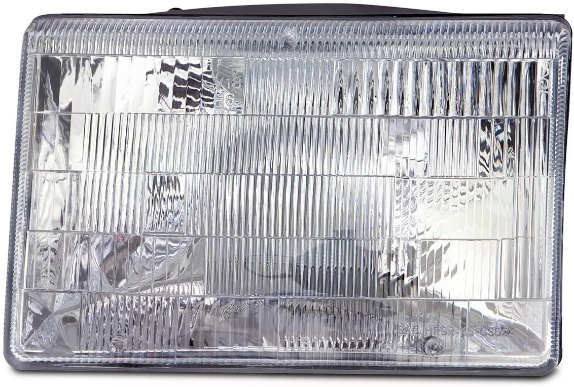 HEADLIGHTSDEPOT Chrome Housing Halogen Headlight Compatible with Jeep Grand Cherokee 1993-1998 Includes Left Driver Side Headlamp