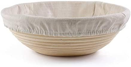 7 piece Sourdough Baking Kit to include 9 Inch Round Bread Proofing Basket for Rising Dough Eco Friendly, Non Toxic - Banneton Basket & Bread Lame + 5 razors & Scraper & 3 Stencils
