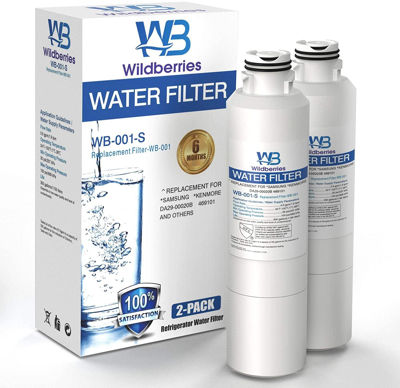 Wildberries Replacement for Samsung Refrigerator Water Filter- RF26J7500SR/AA Water Fridge Filter Compatible Samsung HAF-CIN, HAF-CIN/EXP, DA29-00020A, DA97-08006A, Kenmore 46-9101 Pack of 2
