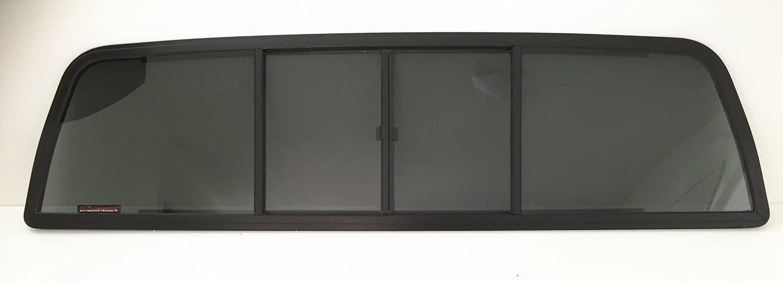 NAGD Rear Sliding Window Glass 4 Panel Back Slider Compatible with Ford Ranger Pickup/Mazda B2300 B3000 B4000 Pickup 2 Door Standard Cab 1986-1997 Models