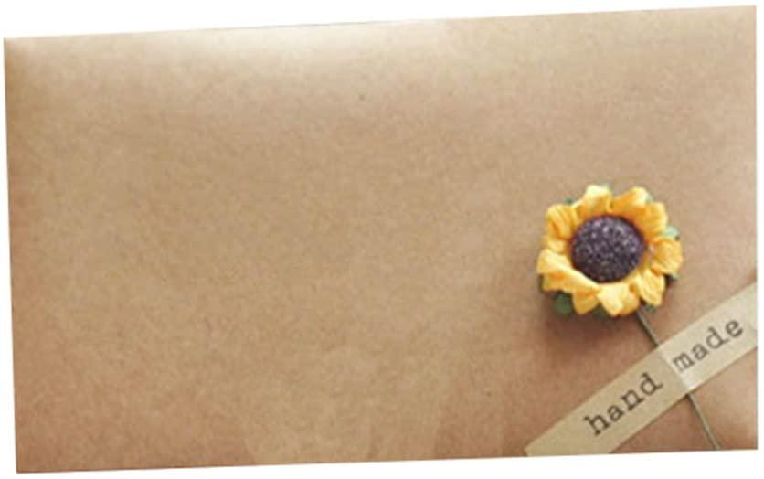 Set of 6 Vintage Style Graceful Envelope/for Invitation(Sunflower)