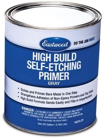 Eastwood High Build Self Etching Primer Gray Gallon for Bare Metal True Acid-Etching Formula