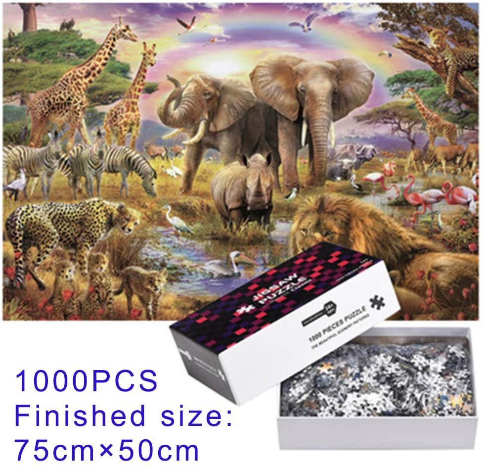 1000 PCS Jigsaw Puzzle 75cm×50cm Large Puzzle Game for Adults & Teens