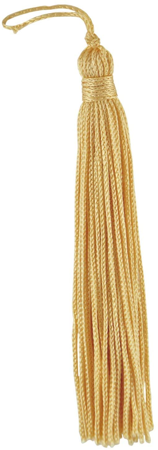 DÉCOPRO Set of 10 Light Gold Chainette Tassel, 4 Inch Long with 1 Inch Loop, Basic Trim Collection Style# RT04 Color:Light Gold - B7