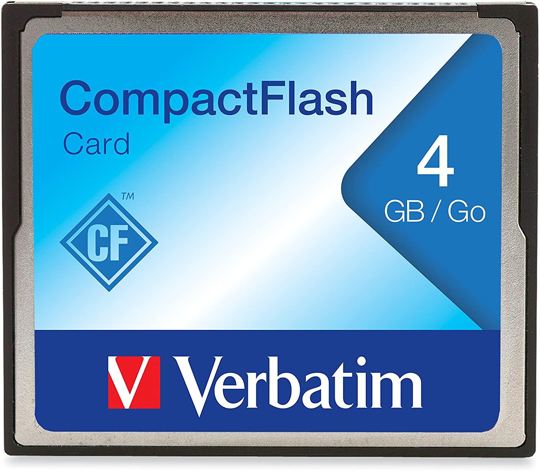 Verbatim 4GB CompactFlash Memory Card, 95188
