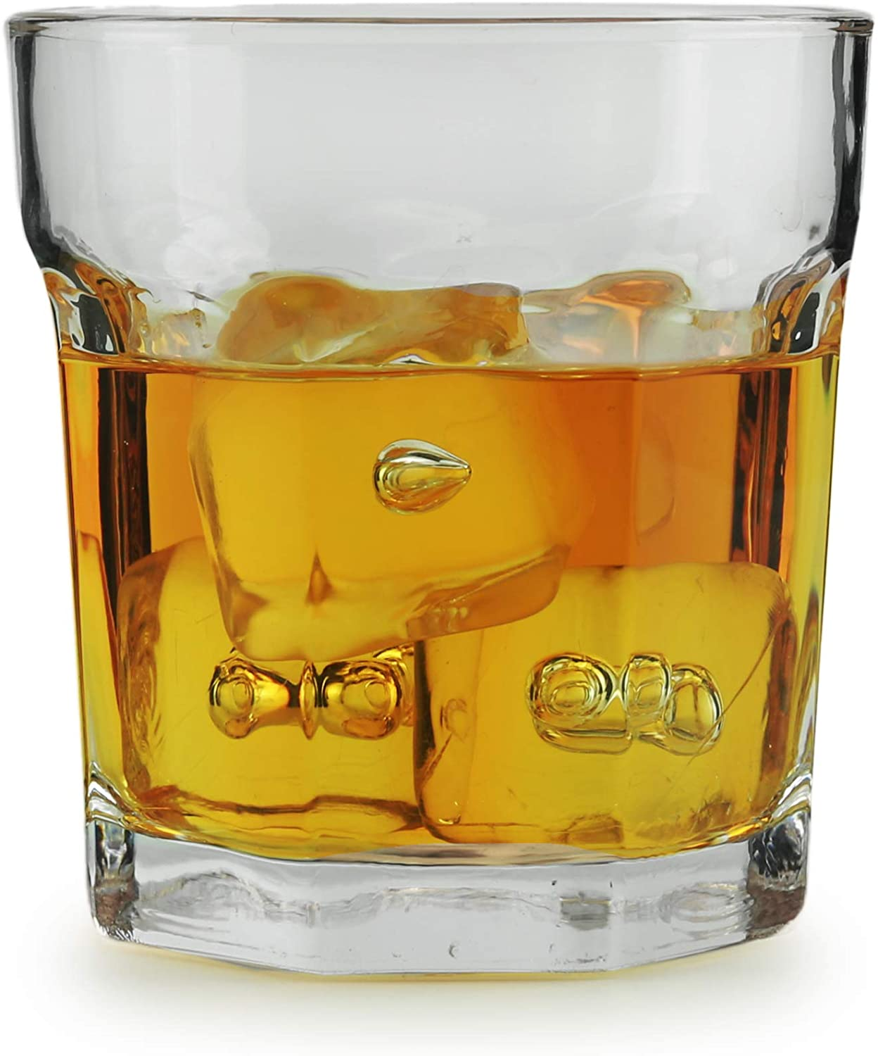 Circleware Heavy Base Whiskey Glass, Set of 4, Home & Kitchen Party Dining Entertainment Beverage Drinking Glassware Cups for Water, Juice, Beer Bar Liquor Decor, 10.4 oz