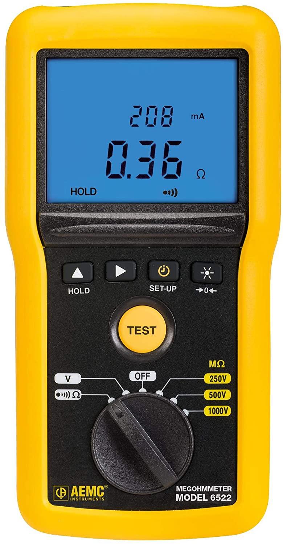 6522 - Insulation Tester, Analogue/Digital Megohmmeter, 250V, 500V, 1kV, 40Gohm-6522