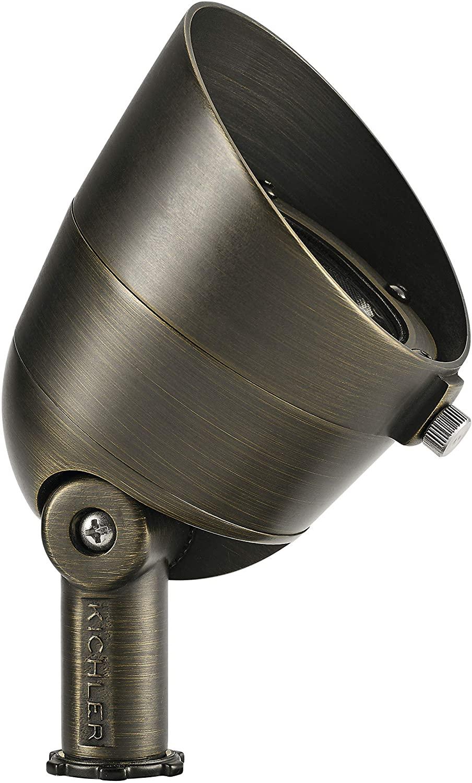 Kichler 16151CBR27 Landscape Accent, 3-Light LED 7.5 Total Watts, Centennial Brass