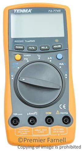 72-7745 - Handheld Digital Multimeter, 3999 Count, True RMS, Auto, Manual Range, 3.75 Digit (72-7745)