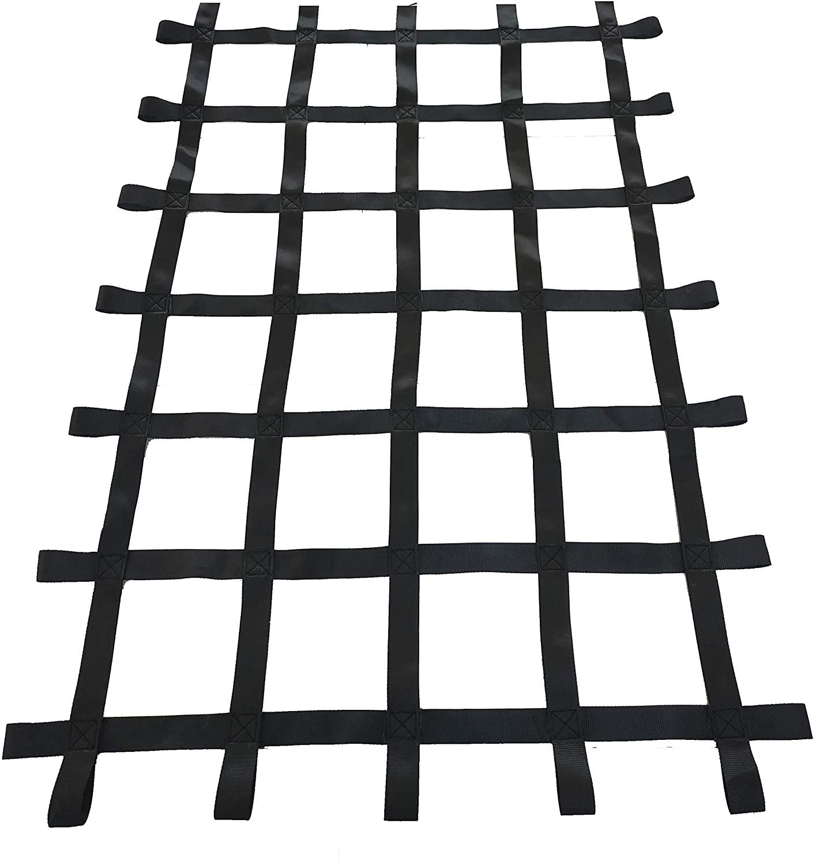 Fong 6 ft X 4 ft Climbing Cargo Net Black (72 inch x 48 inch) - Playground Cargo Net - Climbing Net for Swingset - Indoor Climbing Net - Climbing Ladder