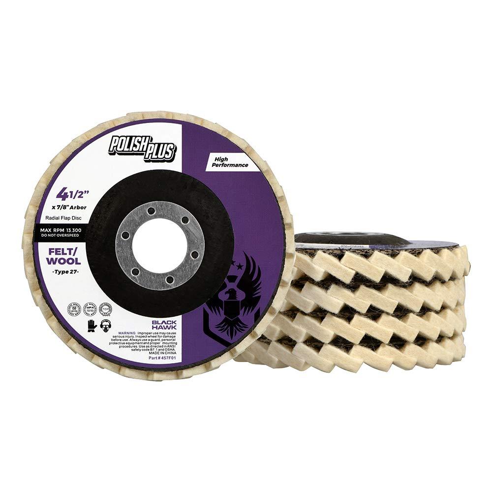 BHA Polish Plus Felt Flap Disc for Polishing and Buffing, 4.5