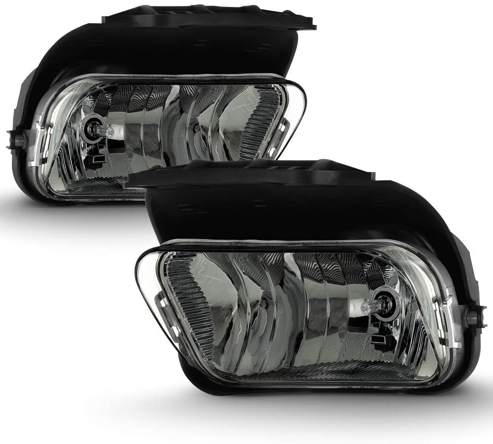ACANII - For 2003-2006 Chevy Silverado Pickup Avalanche Smoked Lens Bumper Fog Lights Driving Lamps Assembly Left+Right