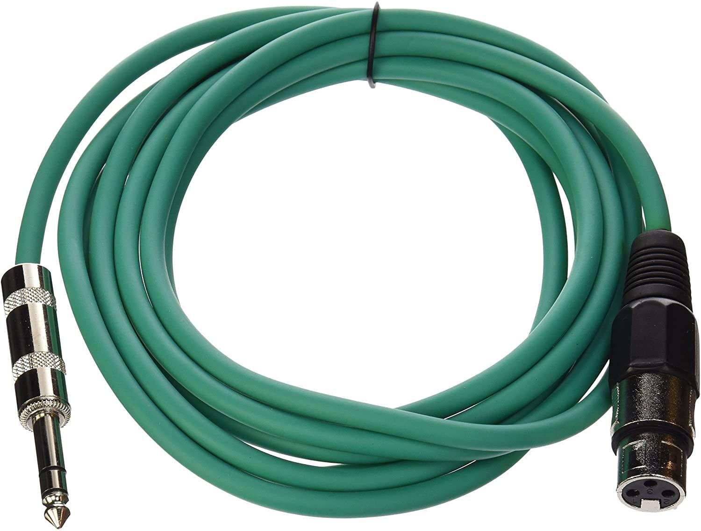Seismic Audio - SATRXL-F10 - Green 10' XLR Female to 1/4