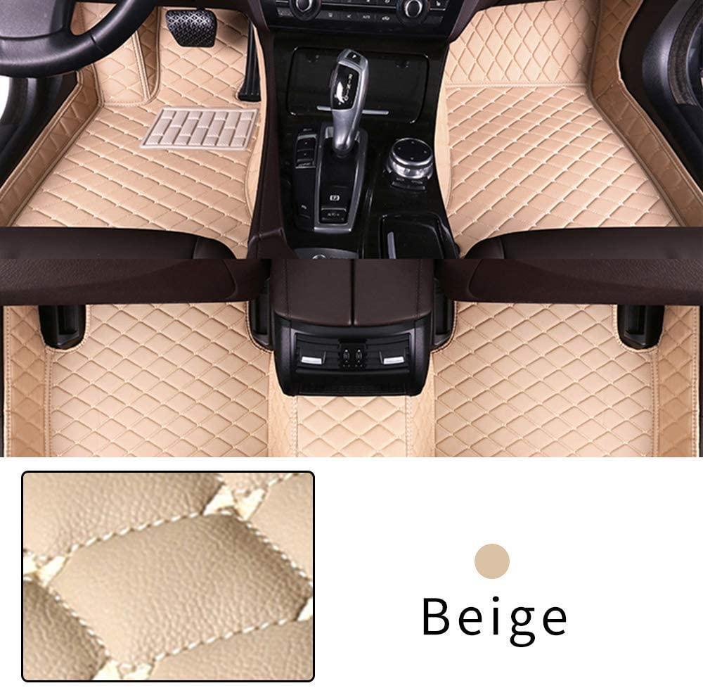 Car Floor Mat for Chevrolet Camaro 2000-2009 Full Coverage Interior Protection Leather Mat Beige