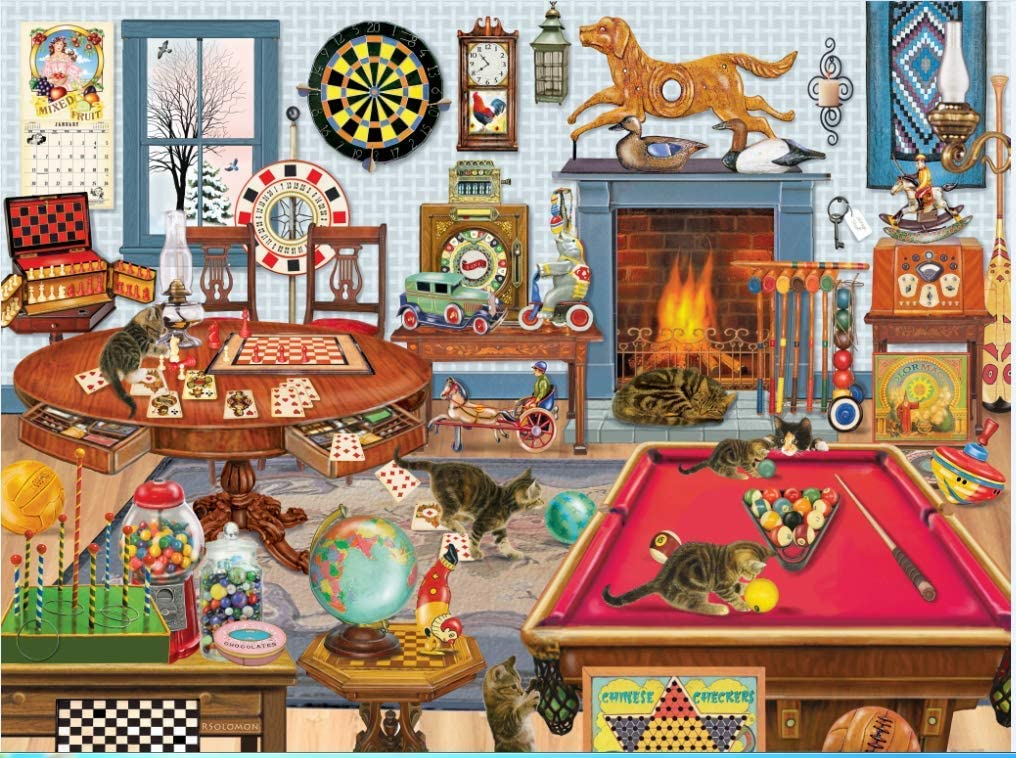 Brataa Cats Will Be Cats-Jigsaw Puzzle 1000 Piece for Adult Kids, Psychedelic Game Challenging Billiards Leisure Time Puzzles Intellective Educational Decompression DIY Toy Home Decor