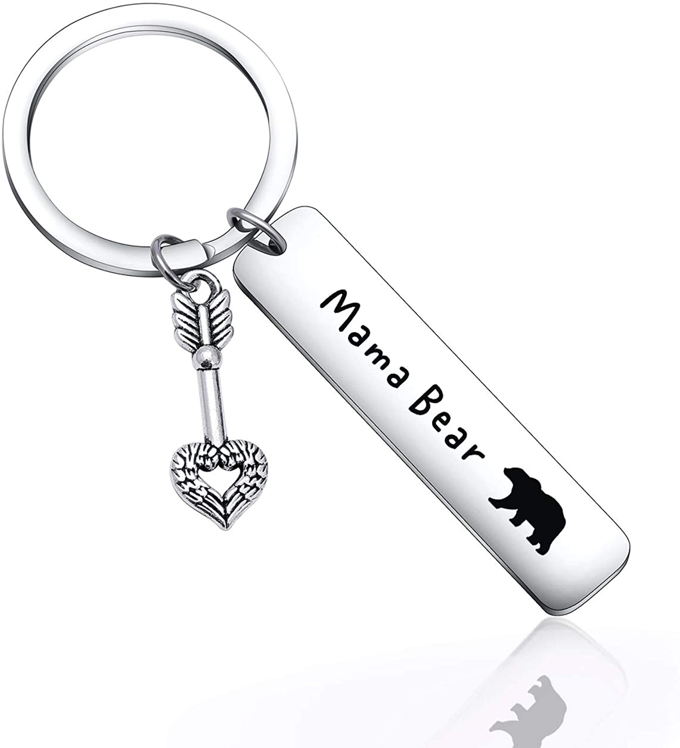 Father Mother's Day Gift Papa Mama Bear Keychain for Mama Grandma Papa Keychain Grandpa Gift BFF Gift