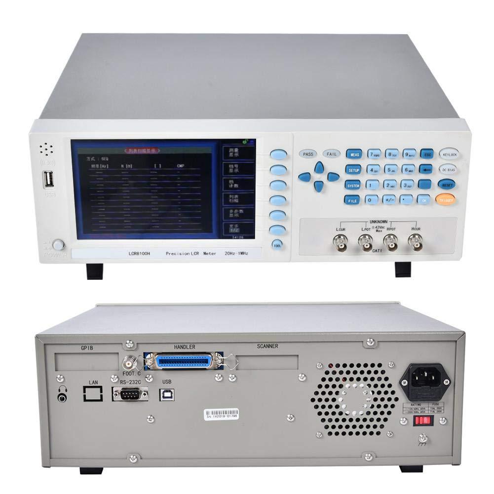 Digital LCR Meter, Benchtop Bridge Meter Capacitance Resistance Impedance Inductance Measure Tester Measuring Multimeter with LCD Display(US)