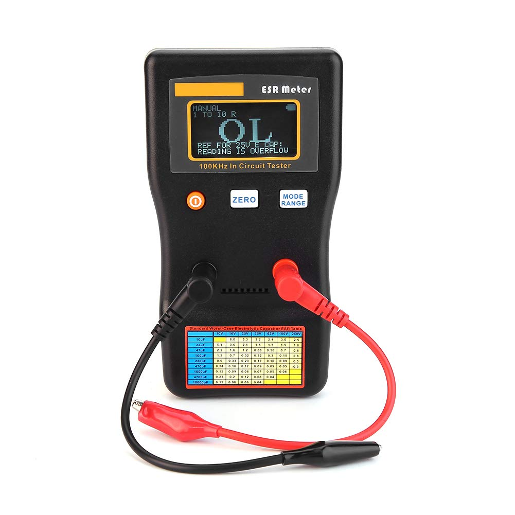 MESR-100 Resistance Capacitance Meter, Auto Ranging in Circuit Tester ESR Resistance Capacitance Meter