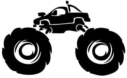Leon Online Box Monster Truck Off Road - Racer Decal [12cm Black] Vinyl Sticker for Car, Bike, iPad, Laptop, MacBook, Helmet