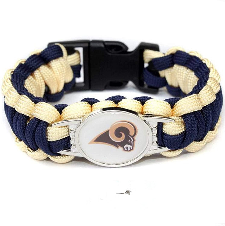 NFL Los Angeles Rams Paracord Bracelet for Women & Men - Paracord Survival Strap Bracelet