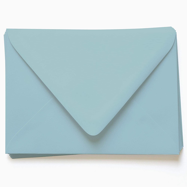 A7 Gmund Colors Matt Placid Blue Envelopes - Euro Flap, 68T, 25 Pack